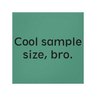 Cool sample size, bro canvas print