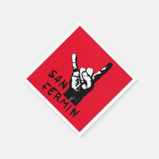 Cool San Fermin idea: rock fingers bulls head, Paper Napkin