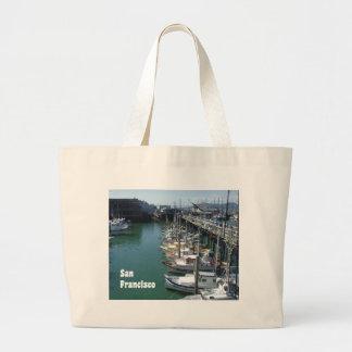 Cool San Francisco Docks Large Tote Bag