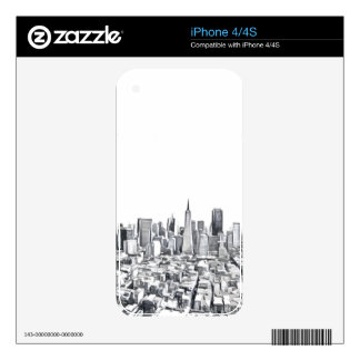 Cool San Francisco SF Citiscape iPhone 4S Decals