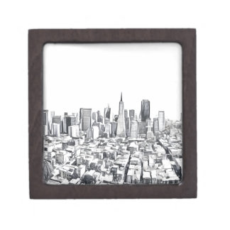Cool San Francisco SF Citiscape Jewelry Box