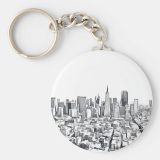 Cool San Francisco SF Citiscape Keychain