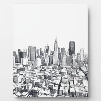 Cool San Francisco SF Citiscape Plaque