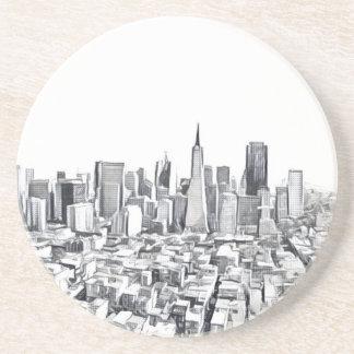Cool San Francisco SF Citiscape Sandstone Coaster