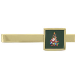 Cool Santa And Reindeer Tie Bar