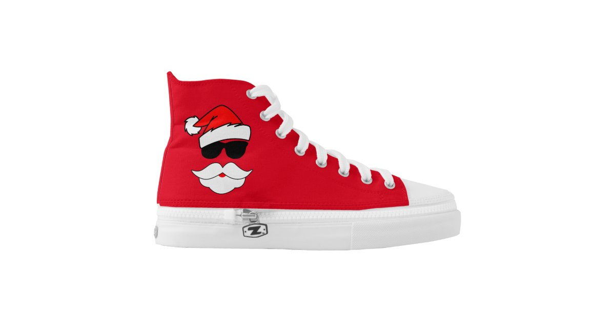 Cool santa claus printed shoes zazzle