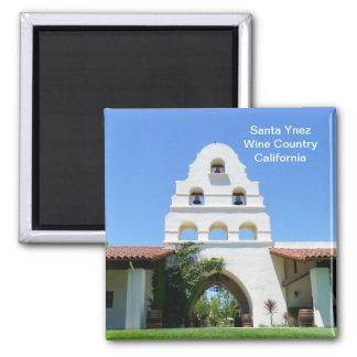 Cool Santa Ynez Magnet! 2 Inch Square Magnet