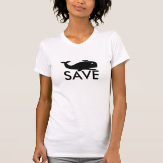 "Cool "" Save the whales "" shirt"