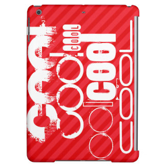 Cool; Scarlet Red Stripes iPad Air Cases