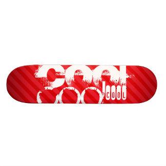 Cool; Scarlet Red Stripes Skateboard