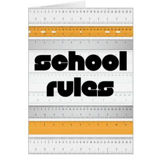 Cool School Rules Greeting Card