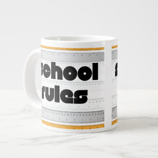 Cool School Rules Mug 20 Oz Large Ceramic Coffee Mug