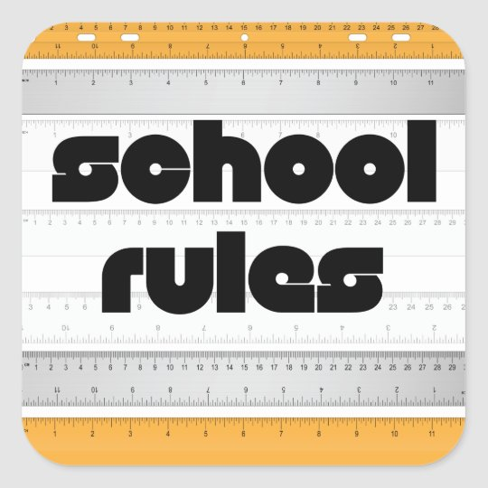 Cool School Rules Stickers