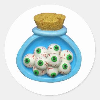 Cool Science Birthday Party Eyeballs Classic Round Sticker
