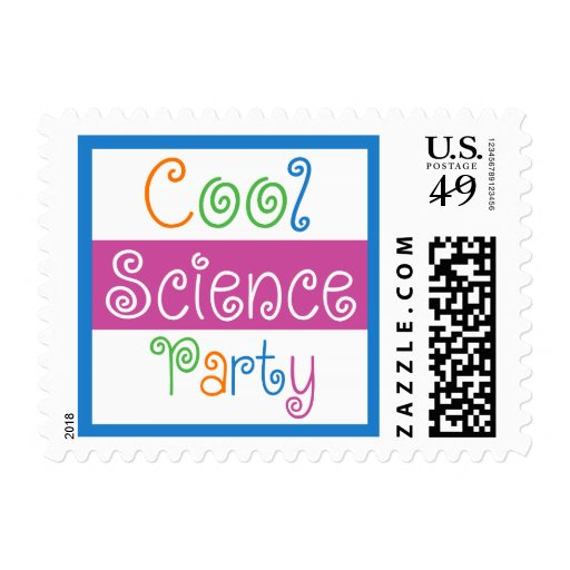 Cool Science Birthday Party for Girls Stamp
