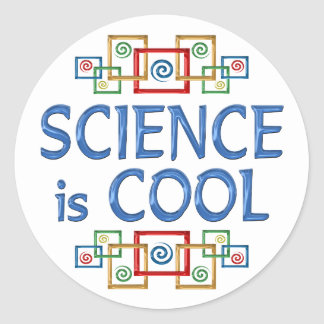 Cool Science Classic Round Sticker