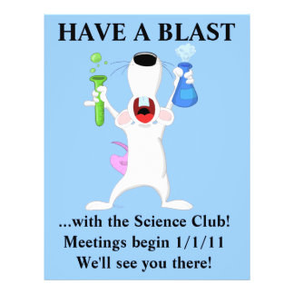 Cool Science Club Flyer