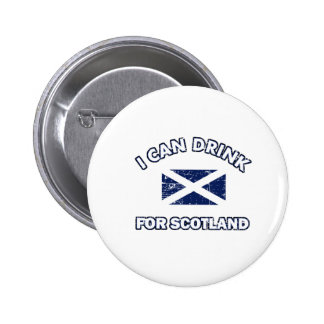 Cool Scotland Drinking Designs 2 Inch Round Button