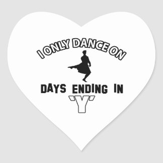 Cool scottish highland dance designs heart stickers