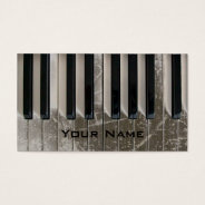 Cool Scratched Keyboard Piano Music Business Card at Zazzle