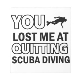 Cool scuba dive designs memo note pads