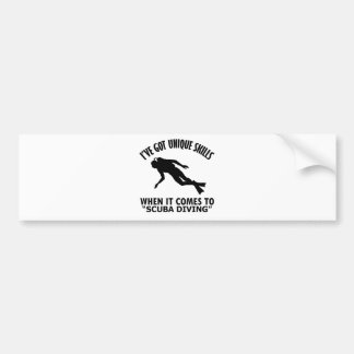 cool Scuba Diving DESIGNS Bumper Sticker