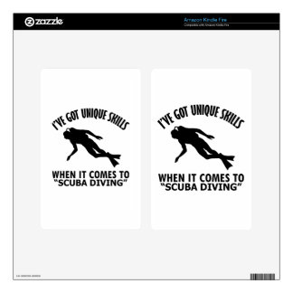 cool Scuba Diving DESIGNS Kindle Fire Decals