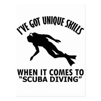 cool Scuba Diving DESIGNS Postcard