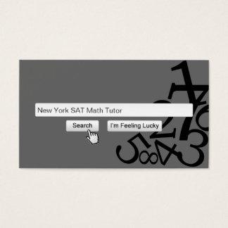 Cool Search Bar Math Tutoring Dark Business Card