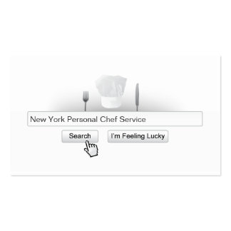 Cool Search Bar Personal Chef Business Card