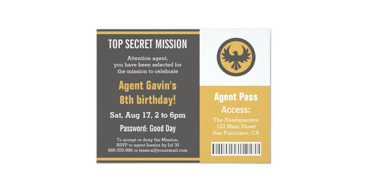 Top Secret Invitations & Announcements   Zazzle
