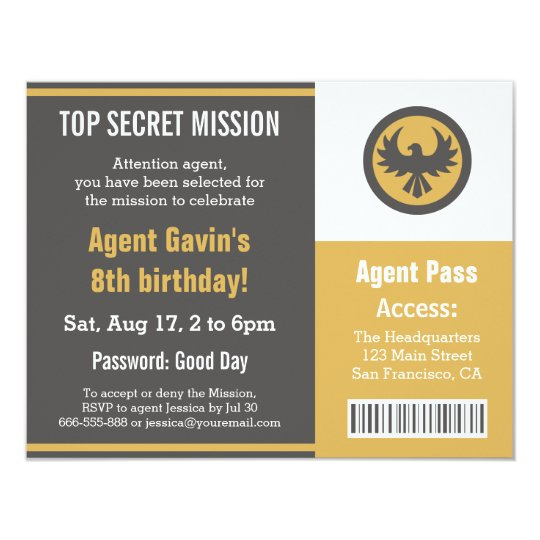 Cool secret agent birthday party invitation zazzle cool secret agent birthday party invitation filmwisefo
