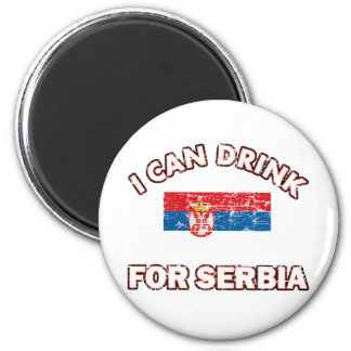 Cool Serbia Drinking Designs 2 Inch Round Magnet