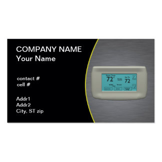 cool setting thermostat Double-Sided standard business cards (Pack of 100)