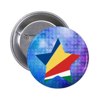 Cool Seychelles Flag Star 2 Inch Round Button