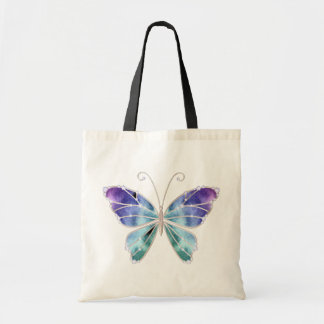 Cool Shades Rainbow Wings Butterfly Budget Tote Bag