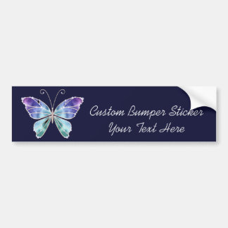 Cool Shades Rainbow Wings Butterfly Bumper Sticker