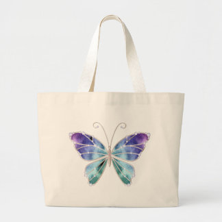 Cool Shades Rainbow Wings Butterfly Jumbo Tote Bag
