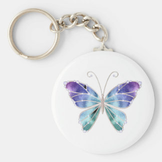 Cool Shades Rainbow Wings Butterfly Keychain