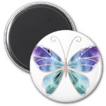 Cool Shades Rainbow Wings Butterfly 2 Inch Round Magnet