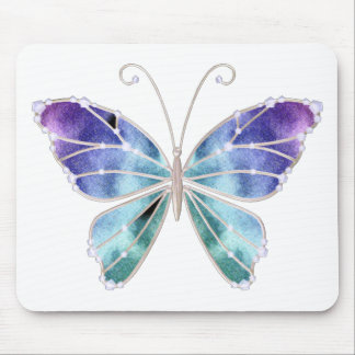 Cool Shades Rainbow Wings Butterfly Mouse Pad
