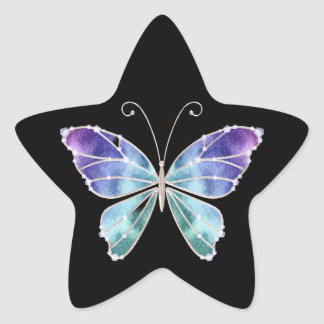 Cool Shades Rainbow Wings Butterfly Star Sticker