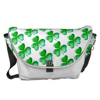 Cool shamrock pattern courier bag