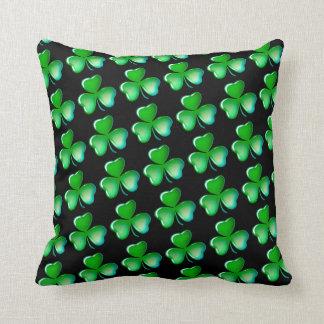 Cool shamrock pattern throw pillow