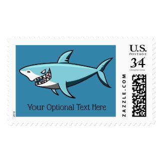 Cool Shark custom text postage stamps