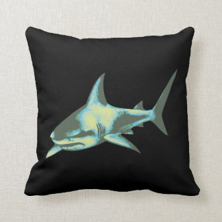 cool shark throw pillow