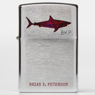 cool shark zippo-lighter with name zippo lighter