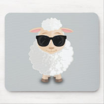 Cool Sheep Mouse Pad