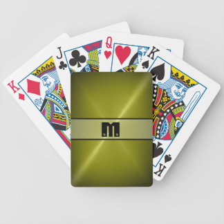 Cool Shiny Stainless Steel Metal 5 Bicycle Playing Cards