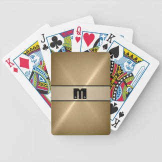 Cool Shiny Stainless Steel Metal Bicycle Playing Cards